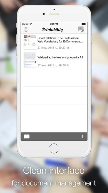 Printability - print Safari page to PDF