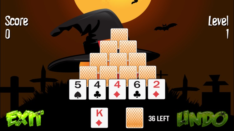 Pyramid Solitaire Halloween screenshot-3
