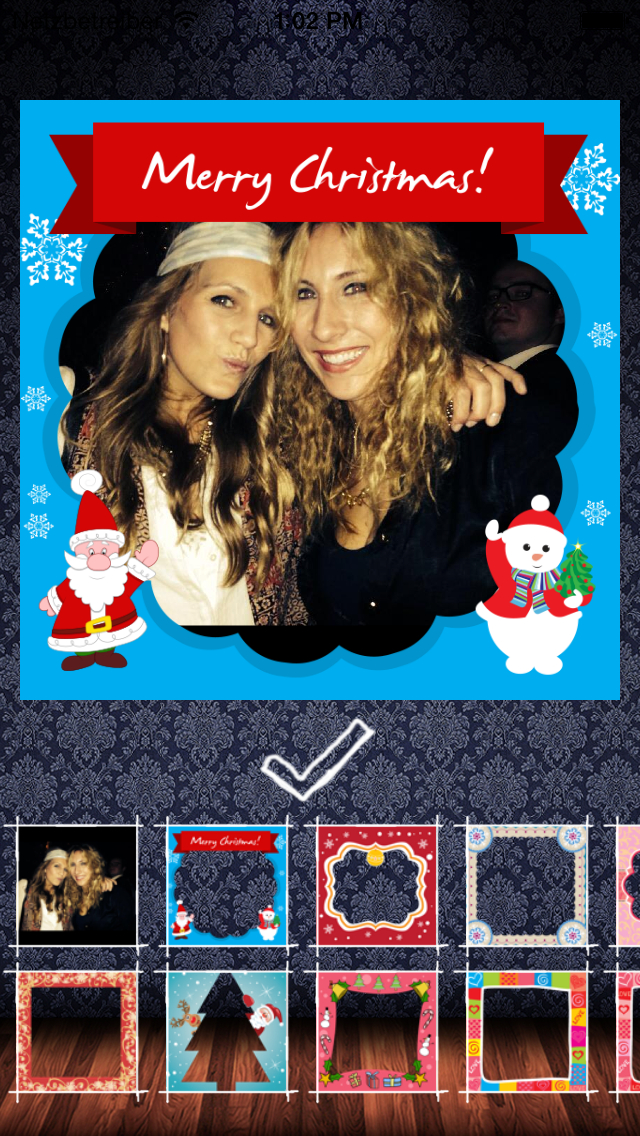 Frame my Christmas photo – your digital Xmas framing editor for pictures and photos screenshot one