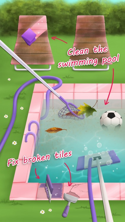 Sweet Baby Girl Cleanup 3 House Chores, Car Wash and Pony Care - Kids Game screenshot-3
