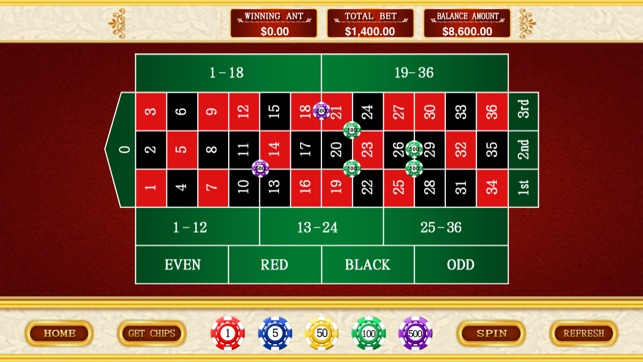 Casino roulette game free