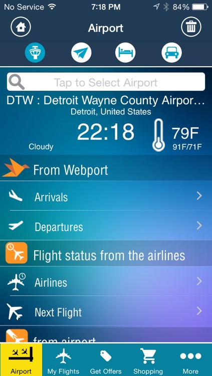 Detroit Airport Pro (DTW) Flight Tracker Wayne County