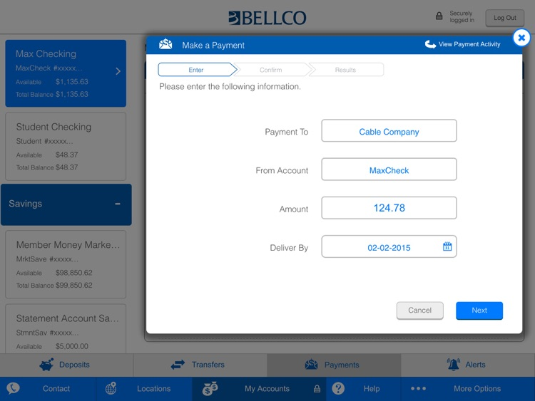Bellco Mobile Banking for iPad screenshot-4
