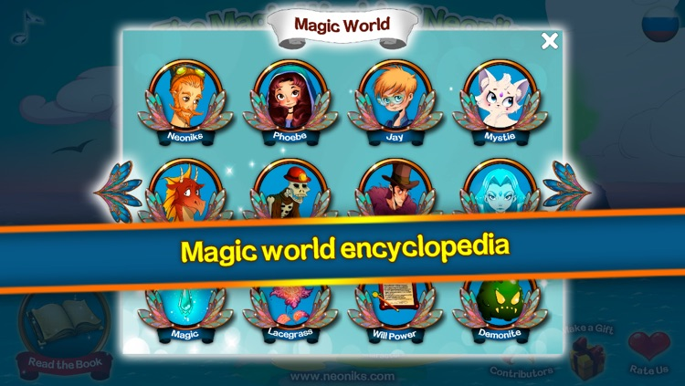 Neoniks: Mystie the Fox book and Fabled Magic World Encyclopedia reading for elementary school kids