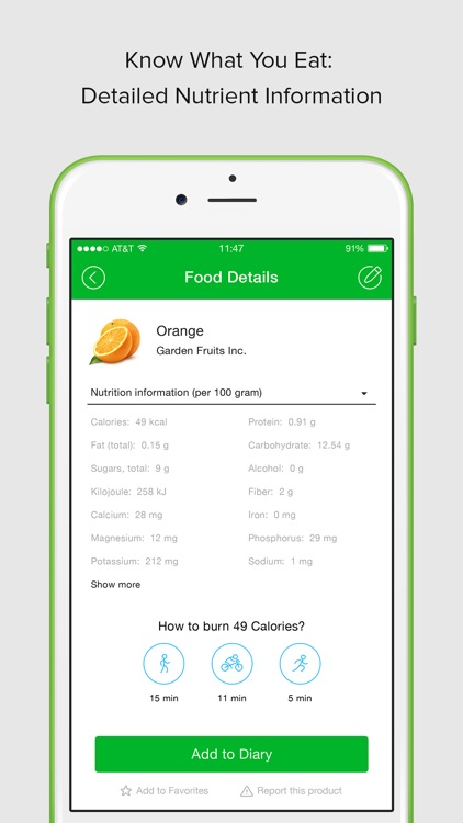 calorie carb fat counter by virtuagym com