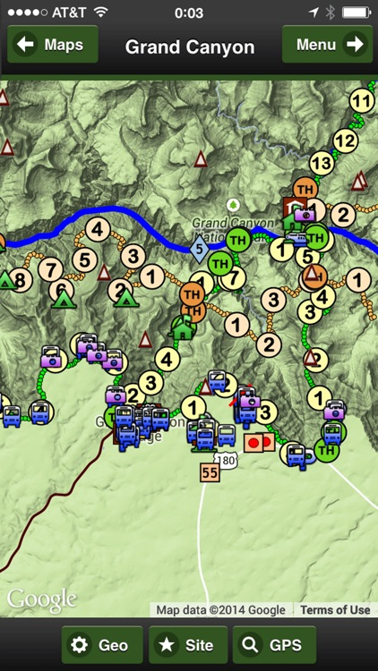 Grand Canyon OFFLINE Road and Trail Map screenshot-4