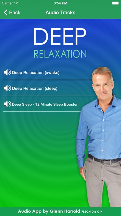 Deep Relaxation Hypnosis AudioApp-Glenn Harrold screenshot-1