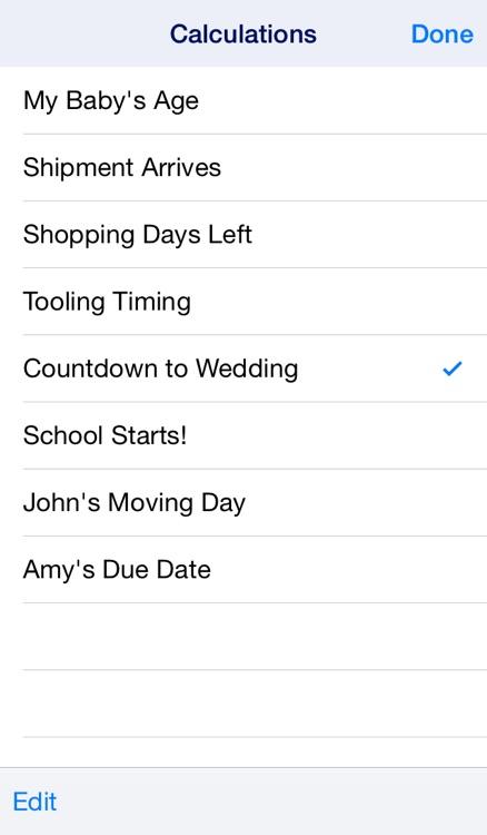 Date Wheel date calculator screenshot-4