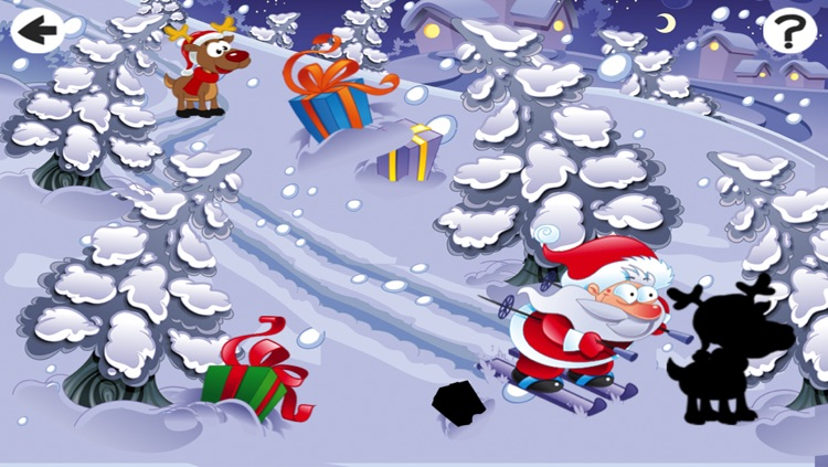 Christmas Puzzle For Small Kids: Tricky Game With Santa-Claus and Snow-Man screenshot-4