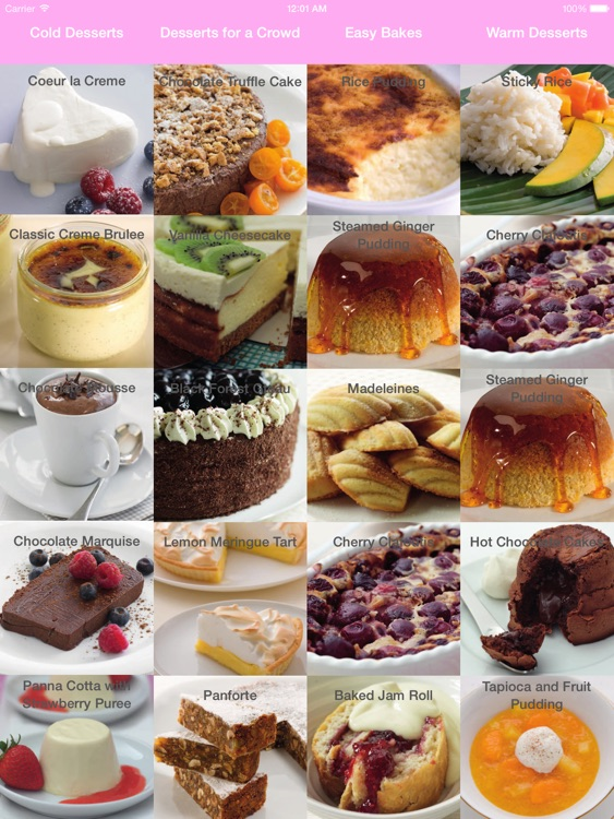 Dessert & Cake Recipes for iPad