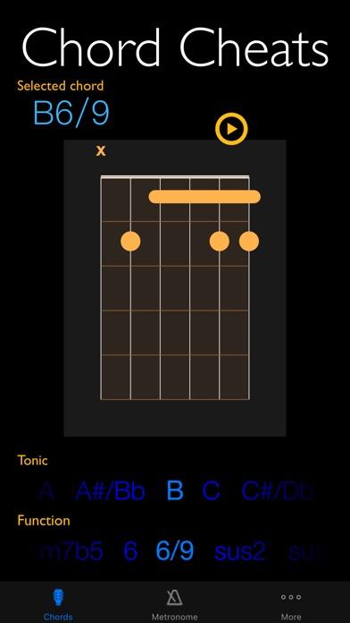 点击获取Chord Cheats & Metronome - Chord diagrams, tone generator and metronome for Watch