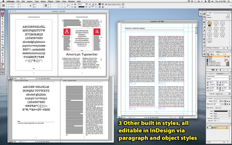 Screenshots for ID Font Catalog