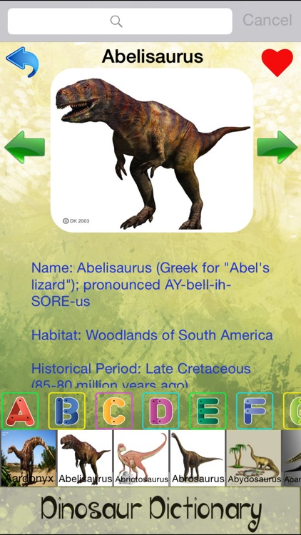 Dinosaur Dictionary - All Information About Dino Races screenshot-3