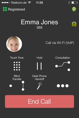 Screenshot of iMC Client