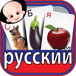 Colorful Russian ABC Alphabets Nursery Flash Cards