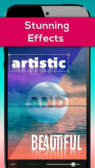 Fonts For Pictures Effects - Cool Font Candy & Typography Editor Screenshot on iOS