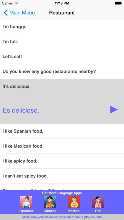 Speak Spanish Travel Phrasebook screenshot-4