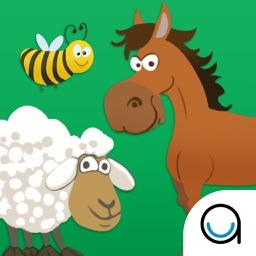 Learn Animal Names & Sounds : Barn Yard Scanning Puzzle for Preschool, Kindergarten & Montessori