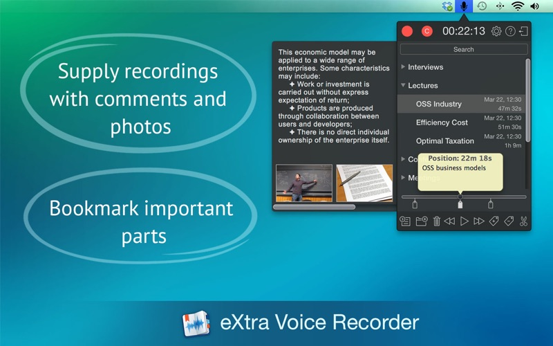 Screenshot #2 for eXtra Voice Recorder