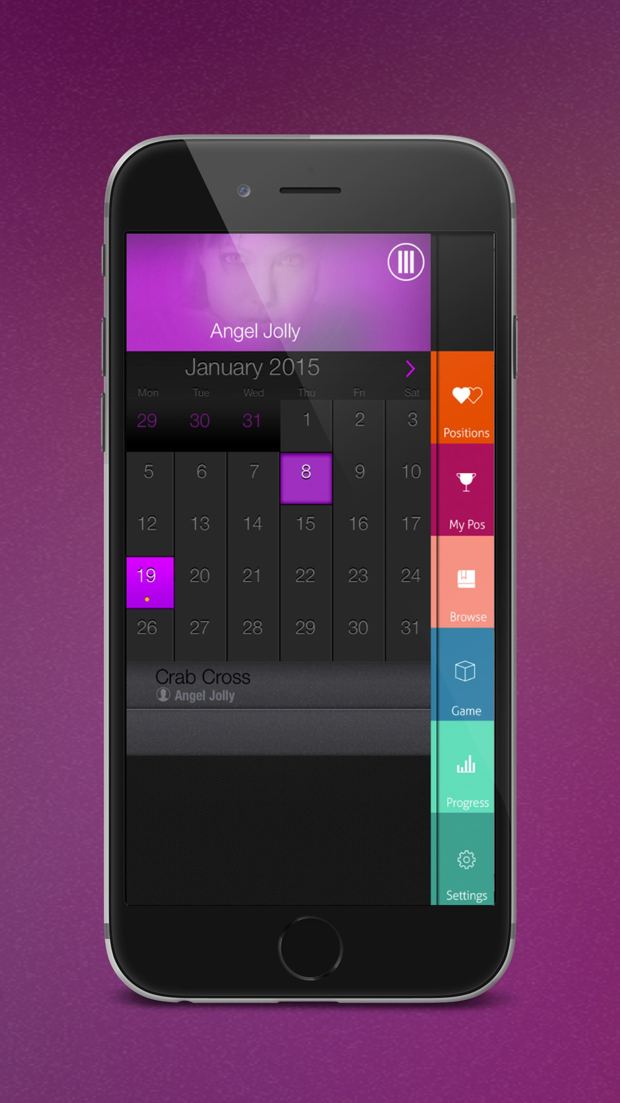 Sex Organizer - Sex Positions Calendar & Dater Screenshot