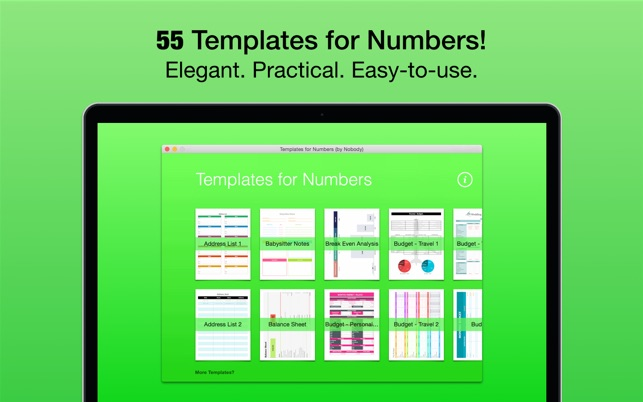 Templates for numbers by nobody on the mac app store for App store screenshot template
