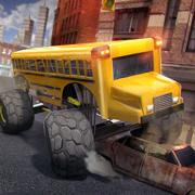 城市 公交车 模拟器 . 免费 校车 驾驶 赛车 游戏 极端的 公交 卡车 德比