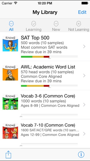 Knowji Vocab Lite Audio Visual Vocabulary Flashcards for SAT, GRE