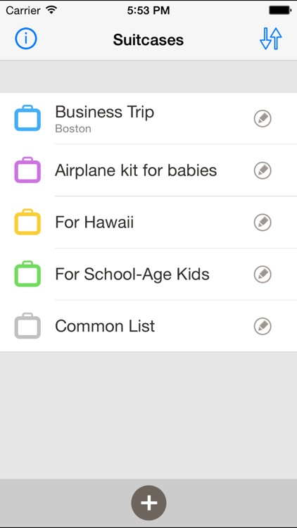 Suitcases - packing checklist screenshot-0
