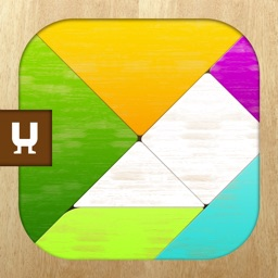 Tangram Puzzles - classic board game  with colorful shapes