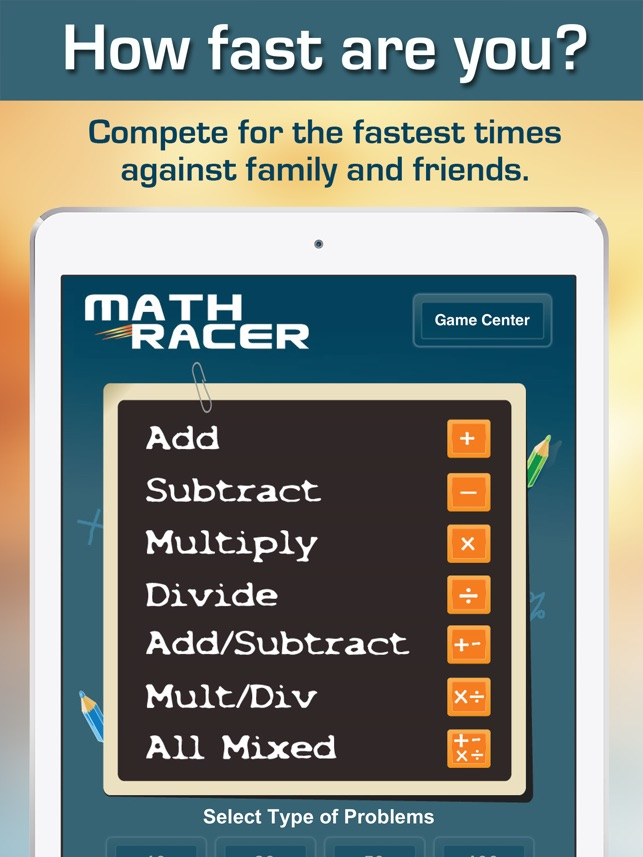 Math Racer 3.0 - Addition, Subtraction, Multiplication and Division ...