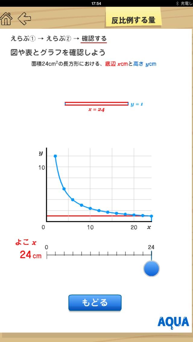 反比例する量 さわってうごく数学「AQUAアクア」のおすすめ画像4