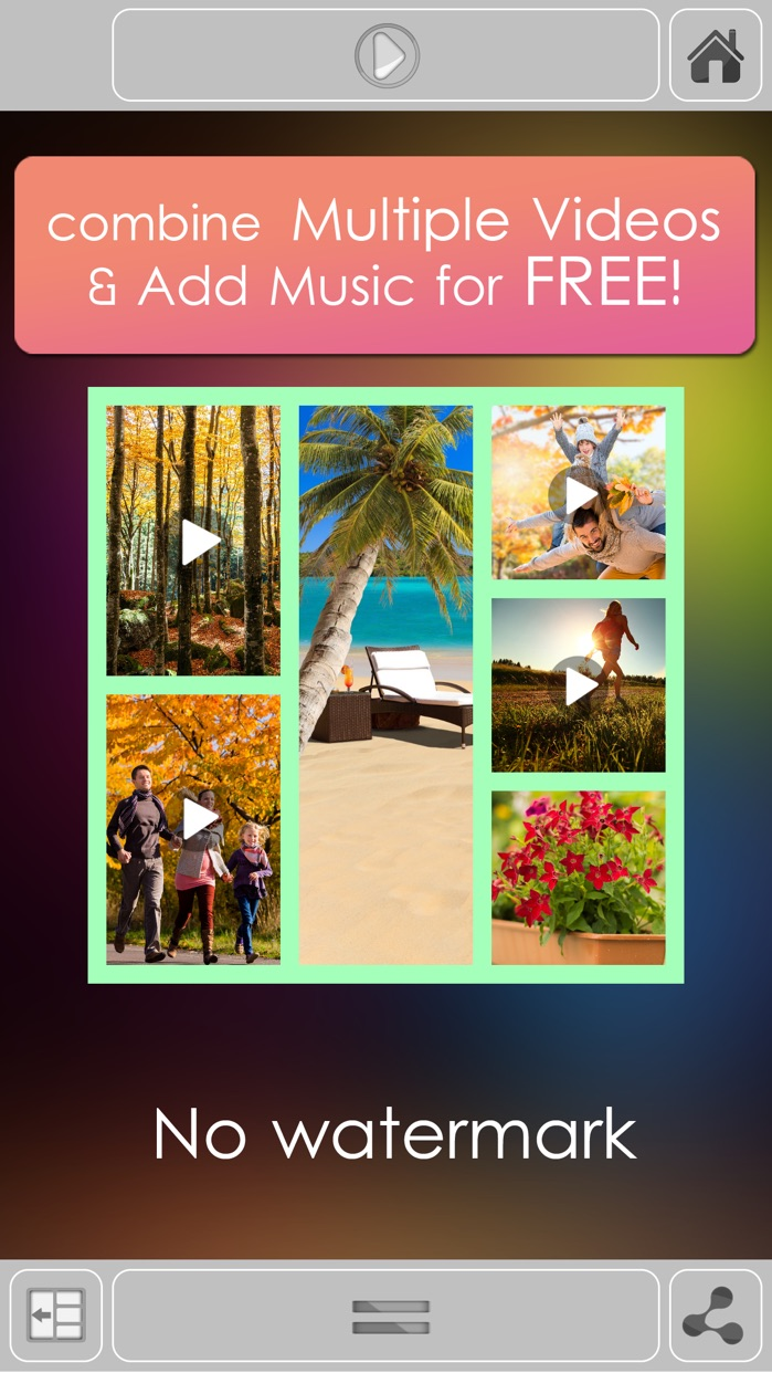VidPic Video Collages Maker with multiple videos, music for youtube, instagram Screenshot