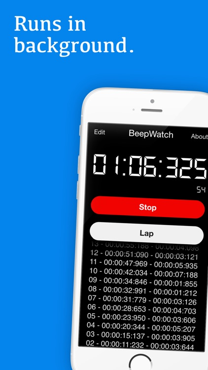 BeepWatch PRO - Beeping Circuit Training Interval Stopwatch screenshot-1