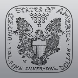 Silver Price Watch - live spot price on a troy ounce bullion coin icon /w widget, charts, push notifications, custom alerts and more!