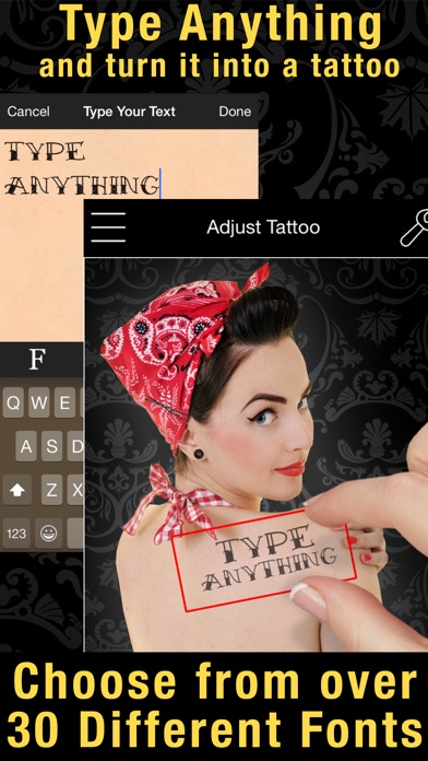 Screenshot for Tattoo You Premium - Use your camera to get a tattoo in United States App Store