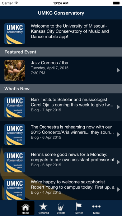 UMKC Conservatory screenshot two