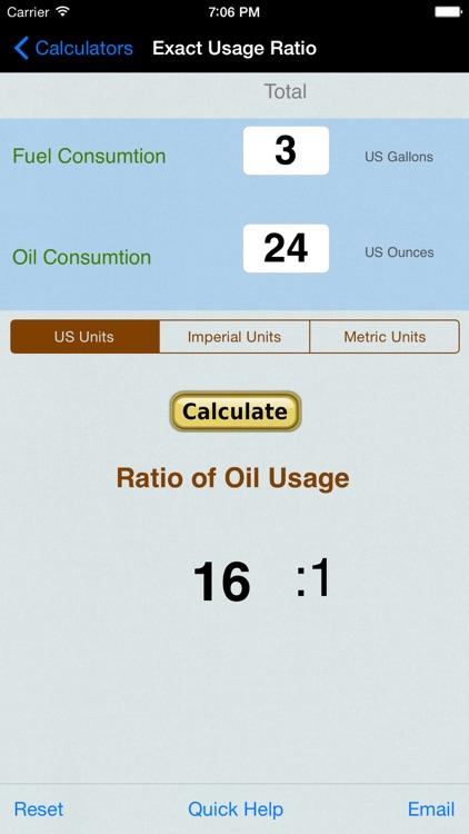 Gas Oil Mixture Ratio