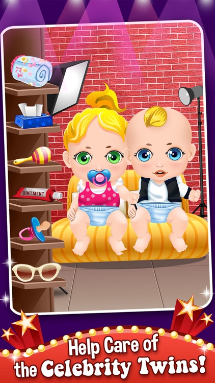 Mommy's Celebrity New Born Twins Doctor - newborn babies salon games! screenshot-3