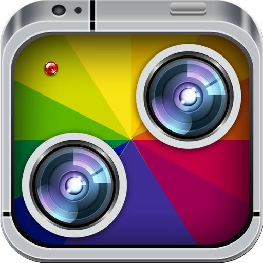 Photo-Mirror Image Free! Twin cam-era & pics editing to split-pic