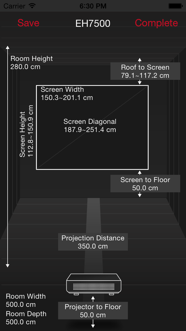 Optoma Projection Simulator screenshot four