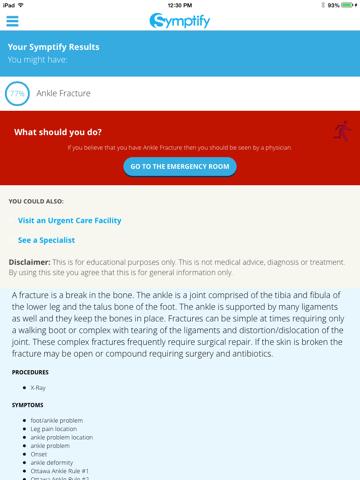 Symptify - Symptoms Simplified screenshot