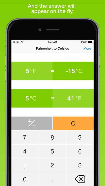 Fahrenheit To Celsius, the fastest temperature converter screenshot-1