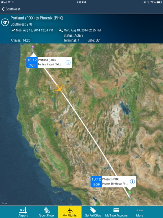 Phoenix Airport + Flight Tracker HD screenshot-0