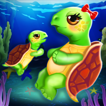 Turtle Mommy's New Baby Born! Under The Sea