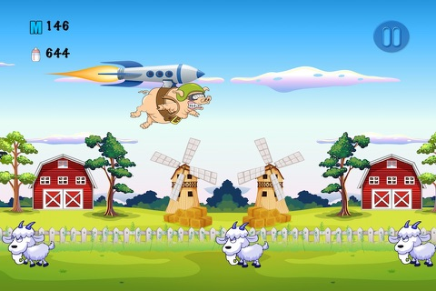 Piggy Ship Rider Saga - Milk Bottle Run Adventure screenshot 4