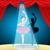 活动! 影游戏为孩子们学习和玩耍的芭蕾舞演员