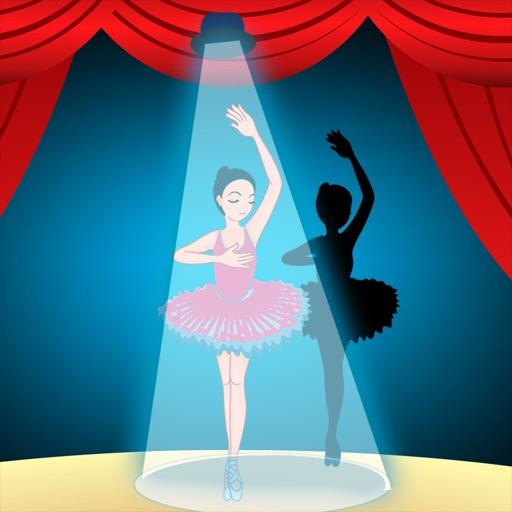 Активный! Shadow Игра Для Детей, Чтобы Учиться И Играть С Балериной