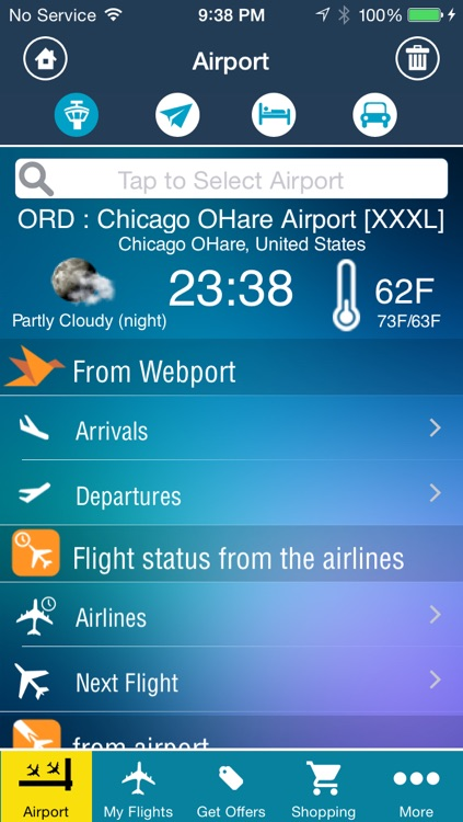 Chicago O'Hare Airport Pro (ORD/MDW) Flight Tracker Radar