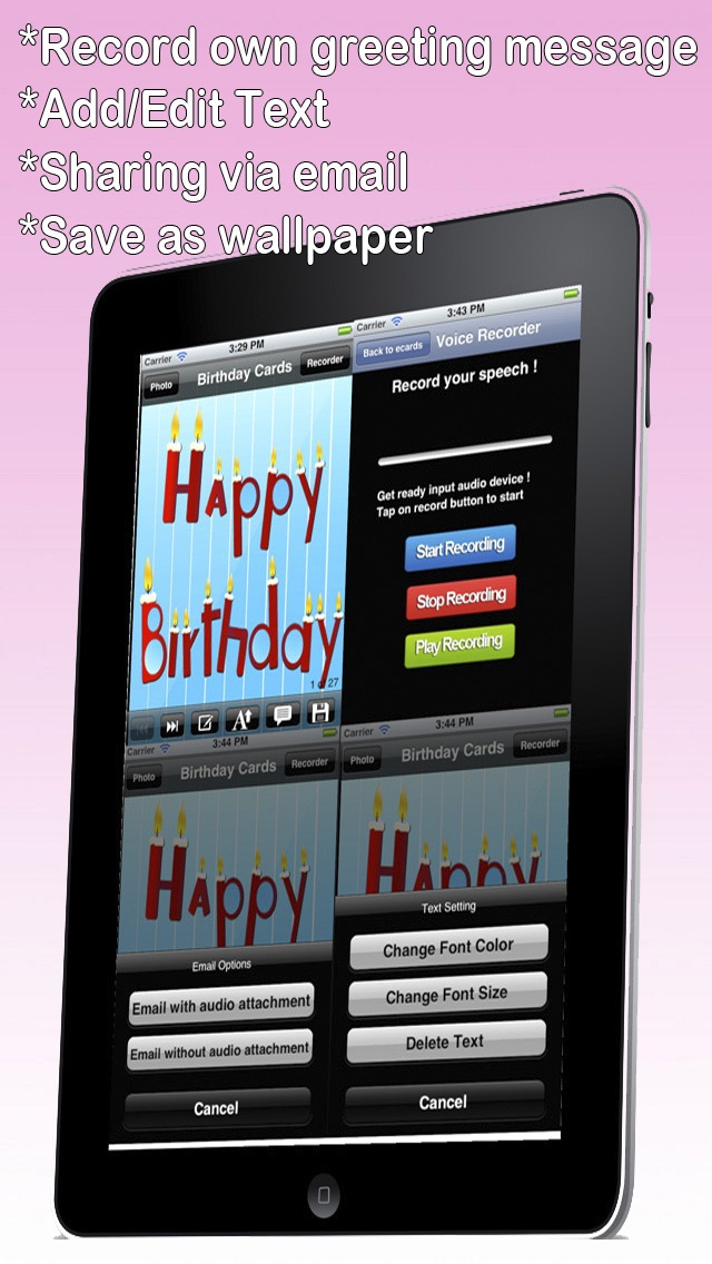Custom And Screenshot 8 For The Ultimate Happy Birthday Cards Lite Version