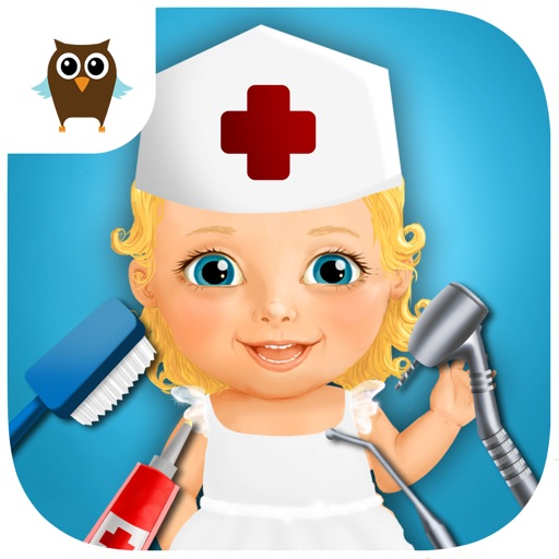 Sweet Baby Girl - Visit Kids Hospital, Drive Ambulance to Emergency Room, Ear Doctor and Help Dentist